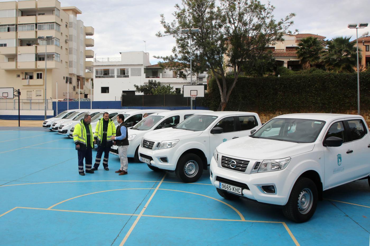 Marbella amplía con ocho nuevos vehículos de limpieza su flota
