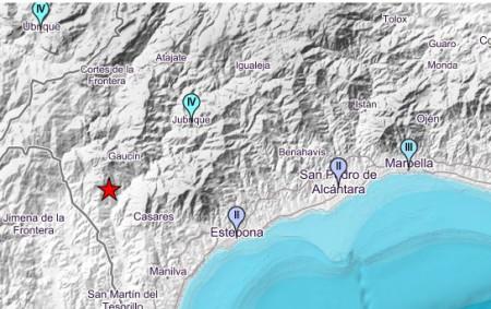 Un terremoto con epicentro en Gaucín se deja sentir en Marbella